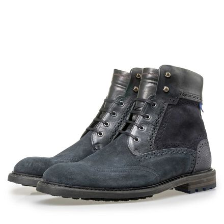 Floris van Bommel high suede leather lace boot