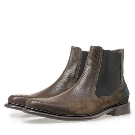 Floris van Bommel men's suede leather Chelsea boot