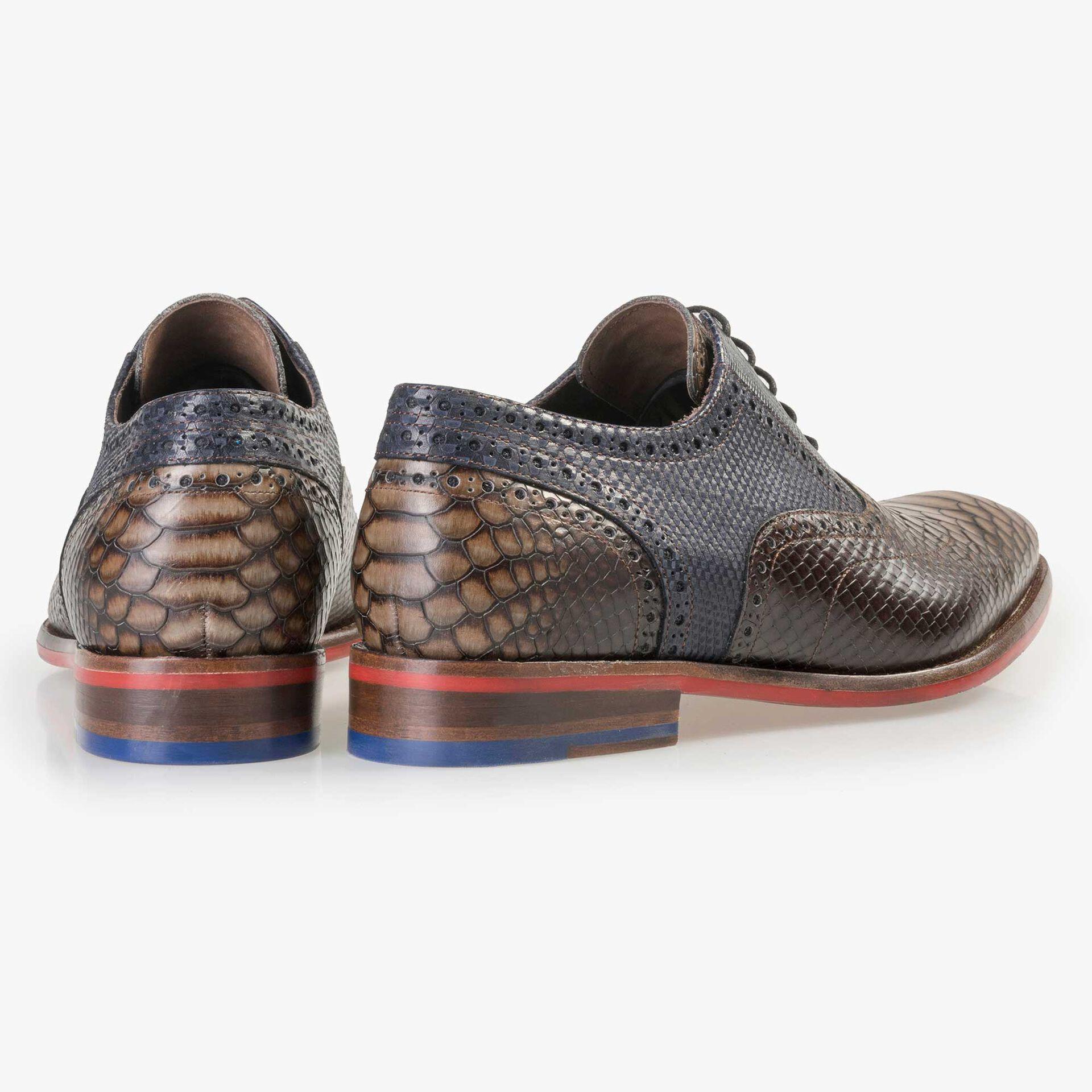 Floris van Bommel men's brown leather lace shoe