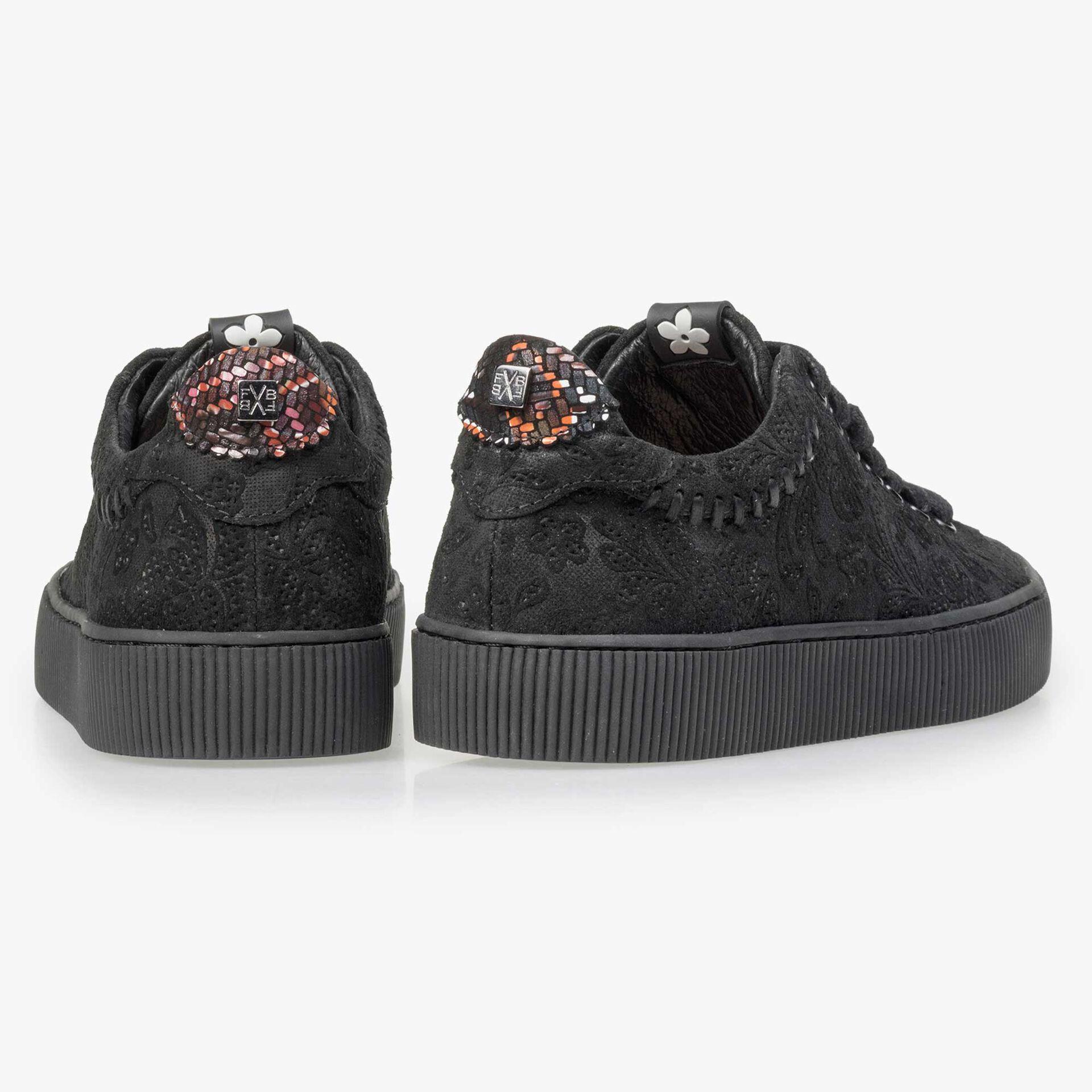 Floris van Bommel zwarte suède sneaker