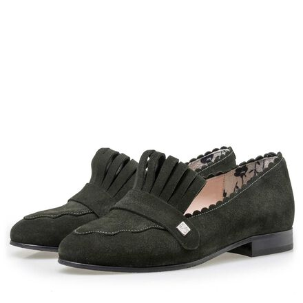 Floris van Bommel women's suede leather loafers