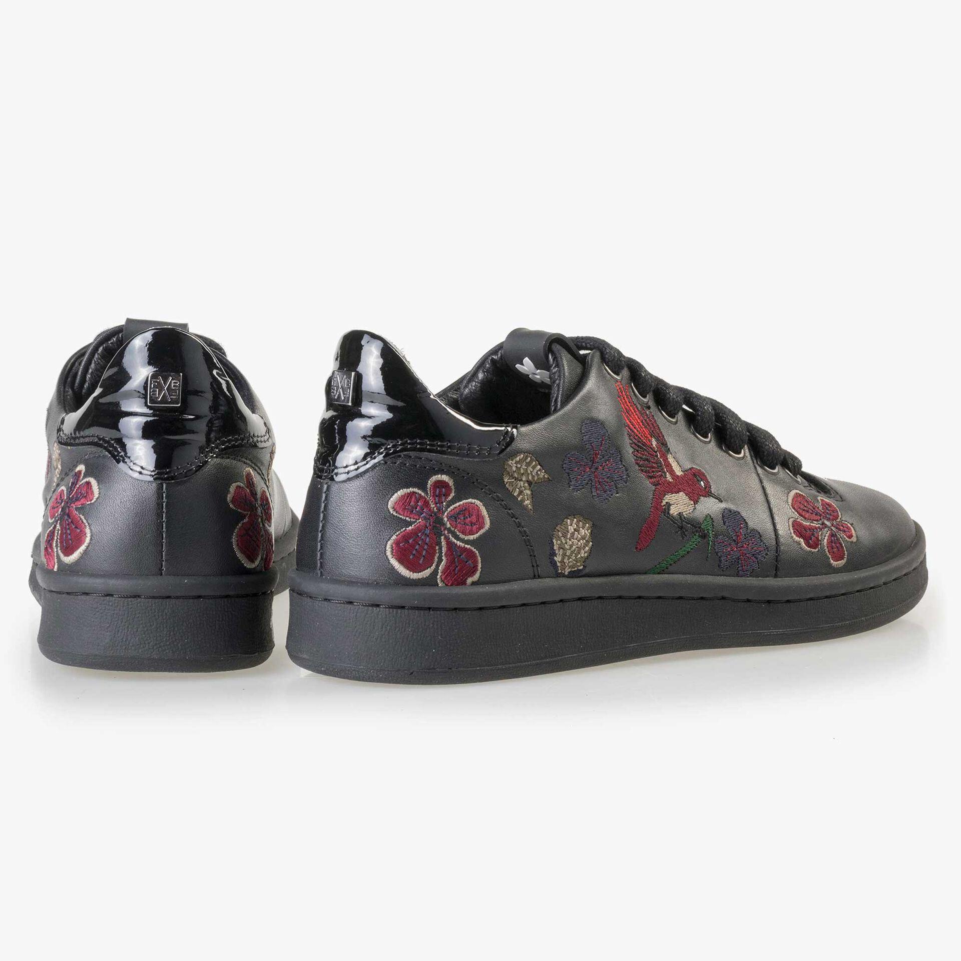 Floris van Bommel zwarte leren dames sneaker