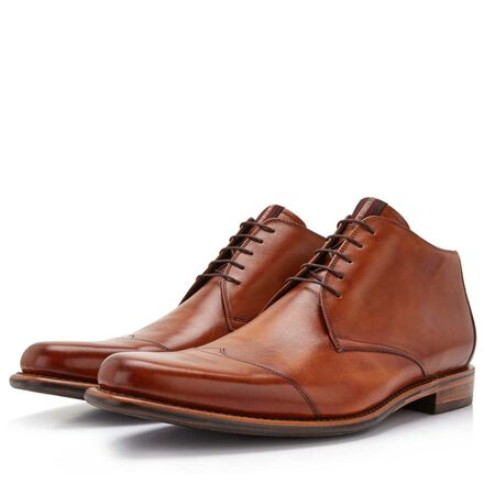 Floris van Bommel leather half-high men's lace-up boot