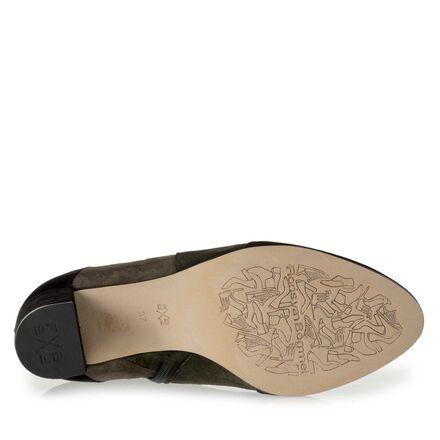 Floris van Bommel suede leather patchwork ankle boot