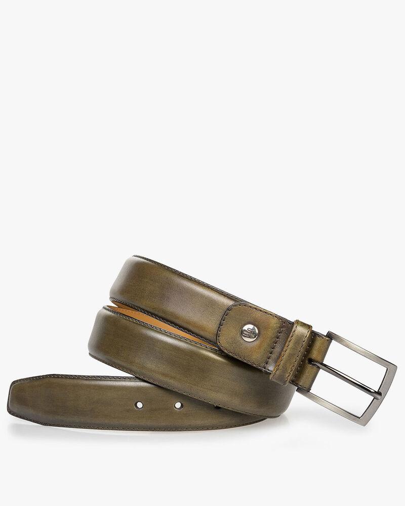 Calf leather belt green