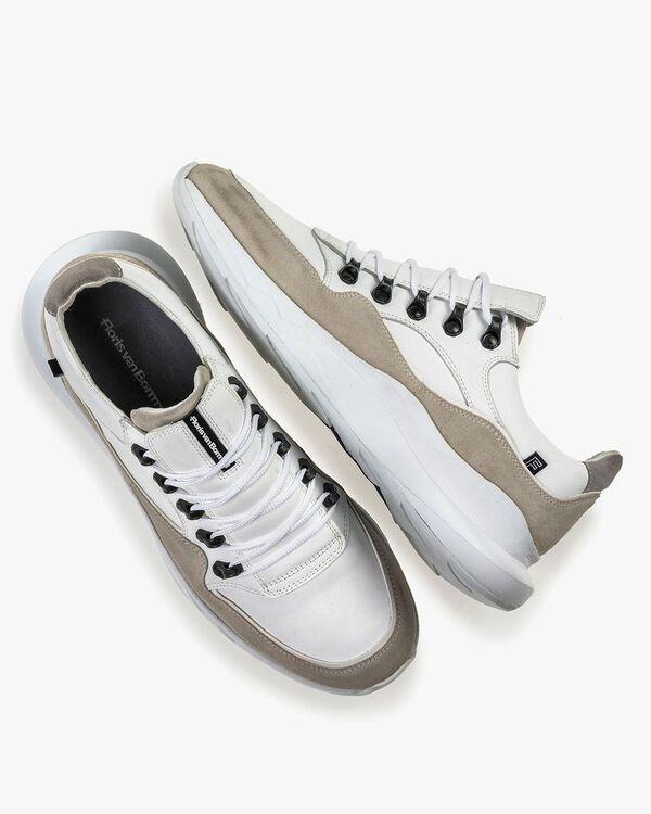 Bulki sneaker wit leer