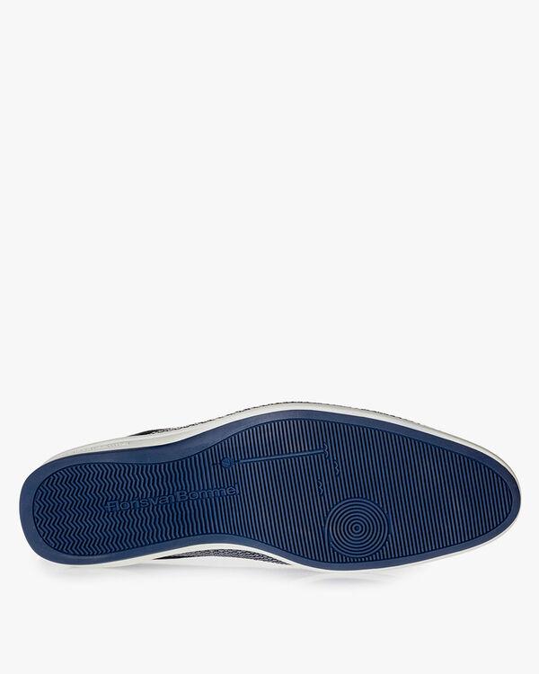 Blue braided lace shoe