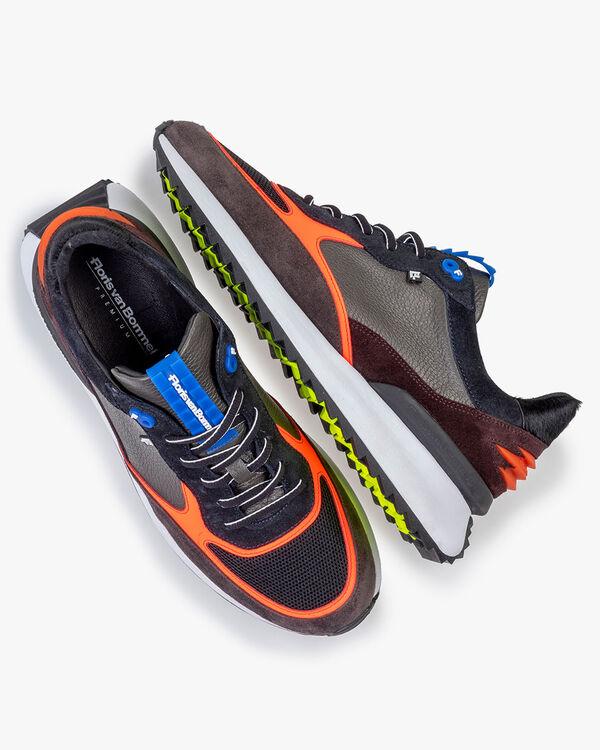 Sharki sneaker grijs/oranje
