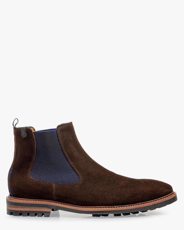 Chelsea boot suede dark brown