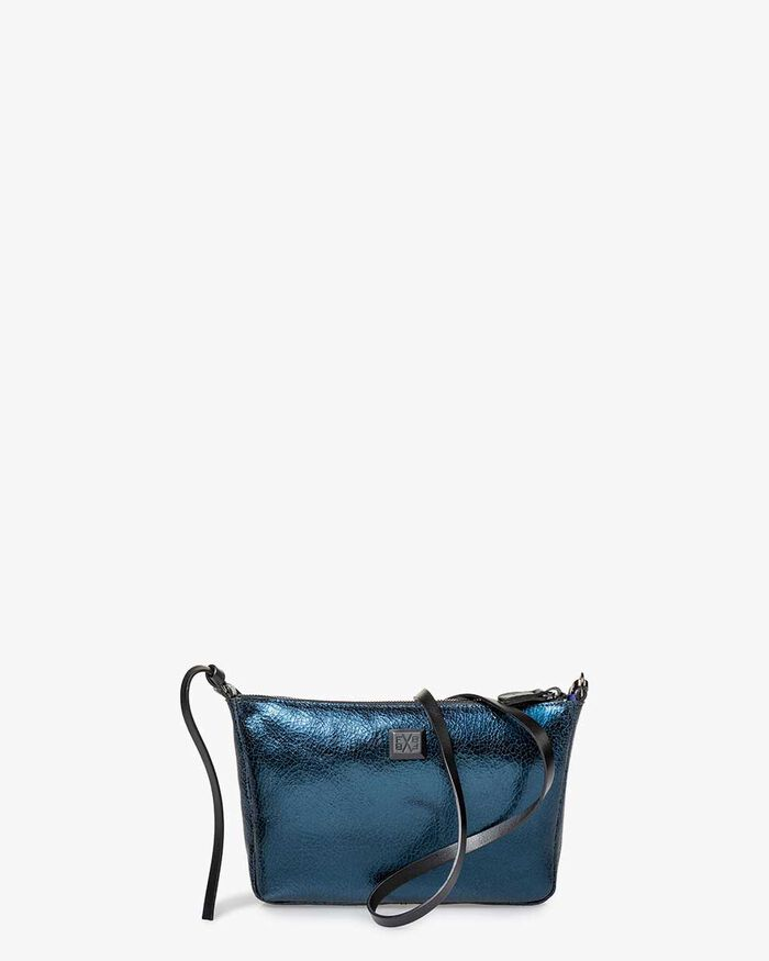 Crossbody bag leather blue