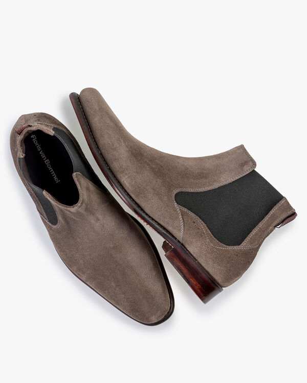 Chelsea boot suede taupe