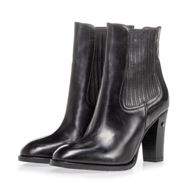 Leather ankle boot women