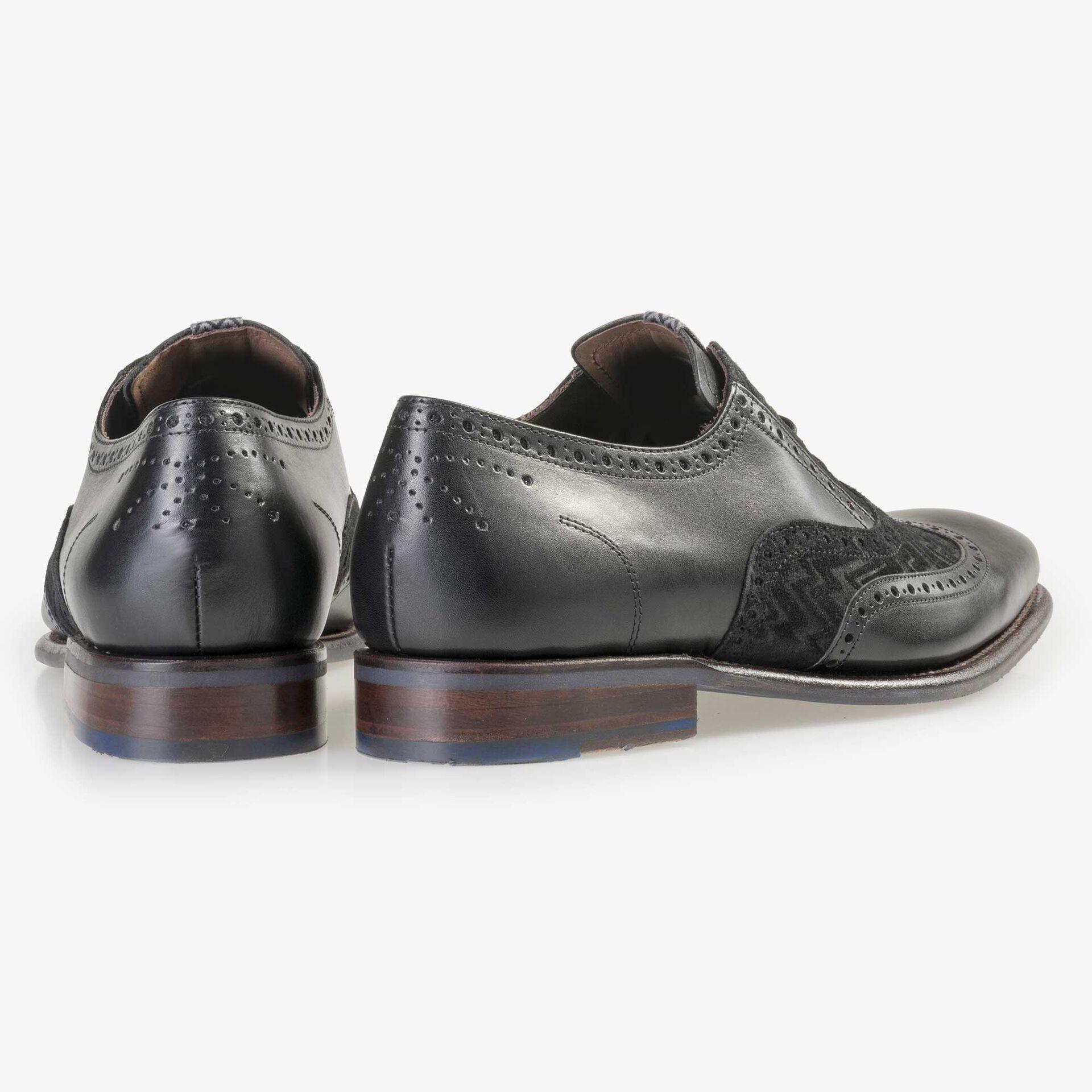 Floris van Bommel men's black leather lace shoe