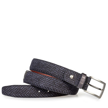 Leather belt with print