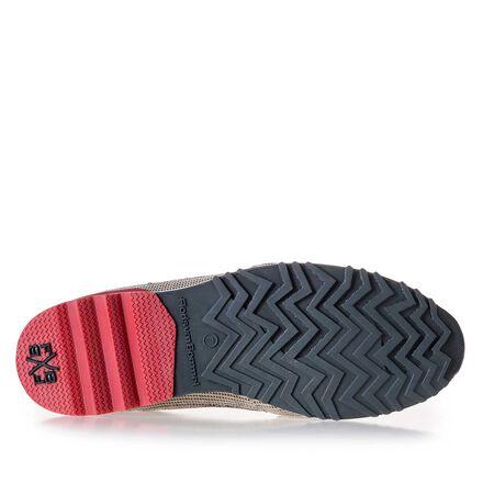 Premium suède sneaker met klittenbandstrap