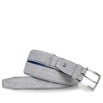Suede leather men's belt