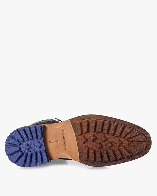 Lace boot suede dark grey