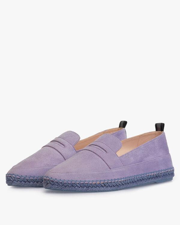 Espadrille suede leather purple