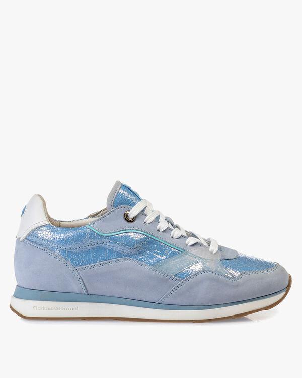 Sneaker nubuckleer lichtblauw