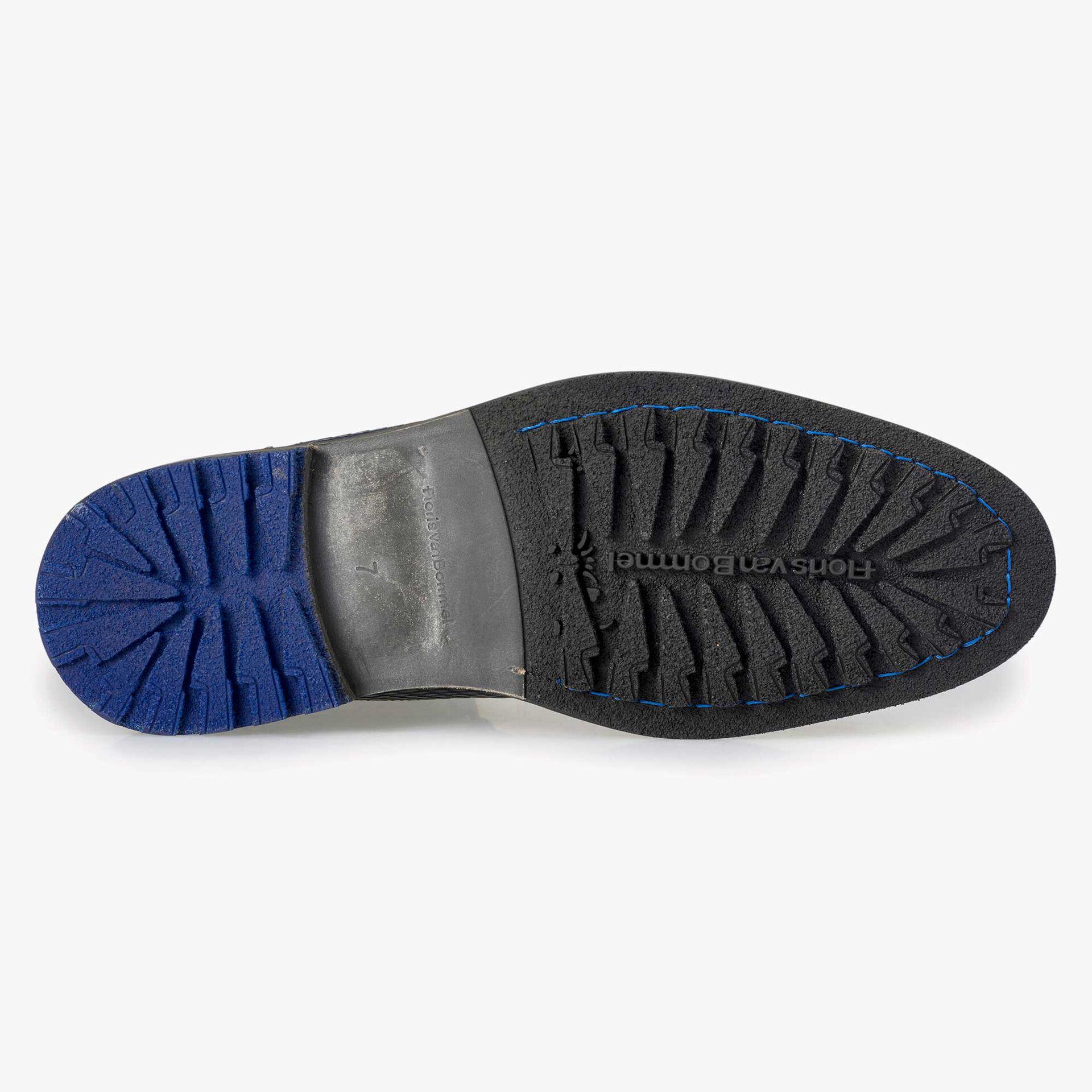 Floris van Bommel dark blue high leather lace boot