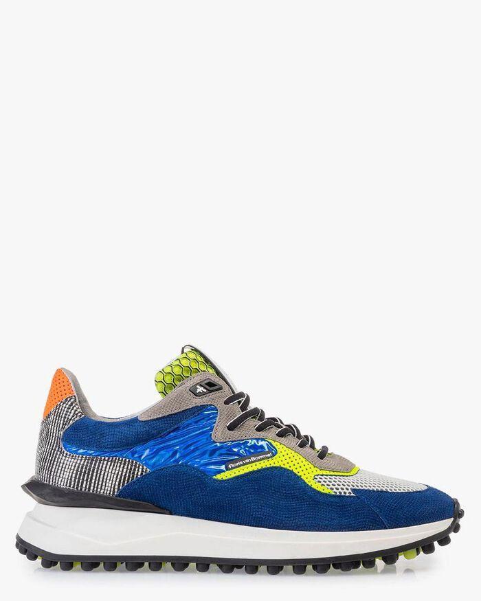 Noppi sneaker suède blauw