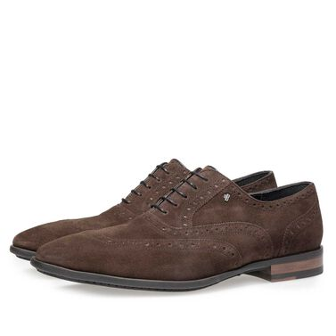 Kalfsleren brogue veterschoen
