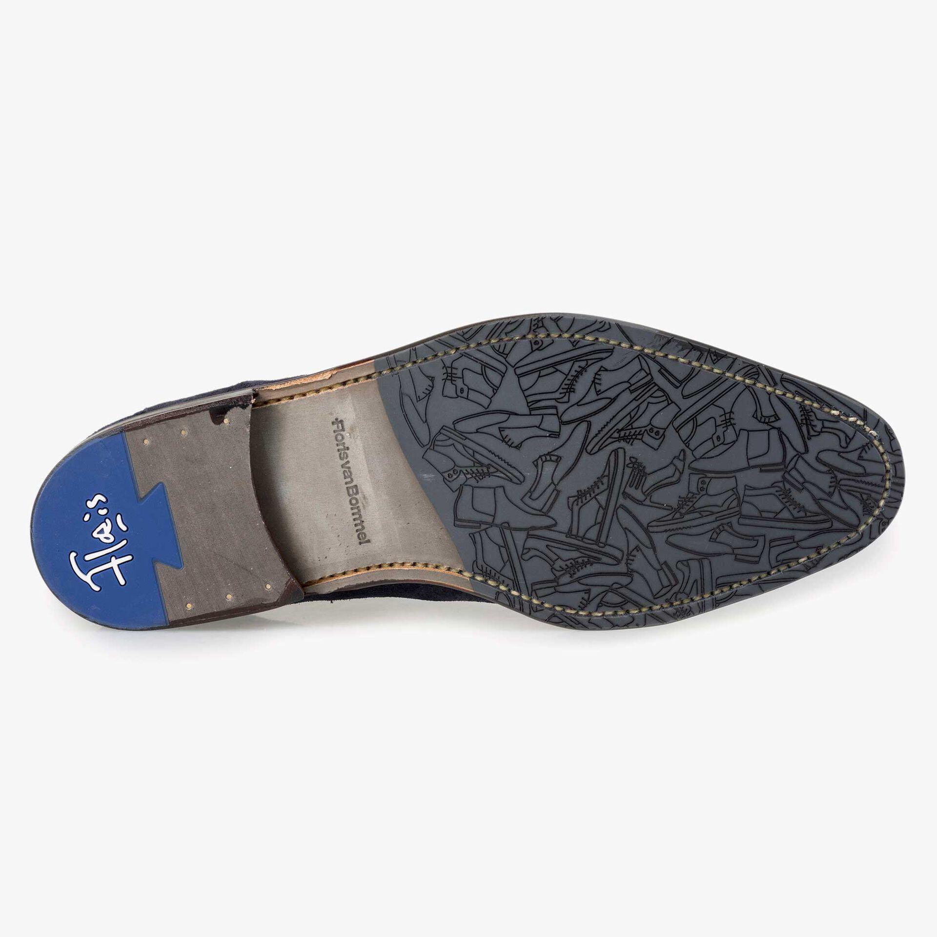 Floris van Bommel blauwe suède heren chelsea boot
