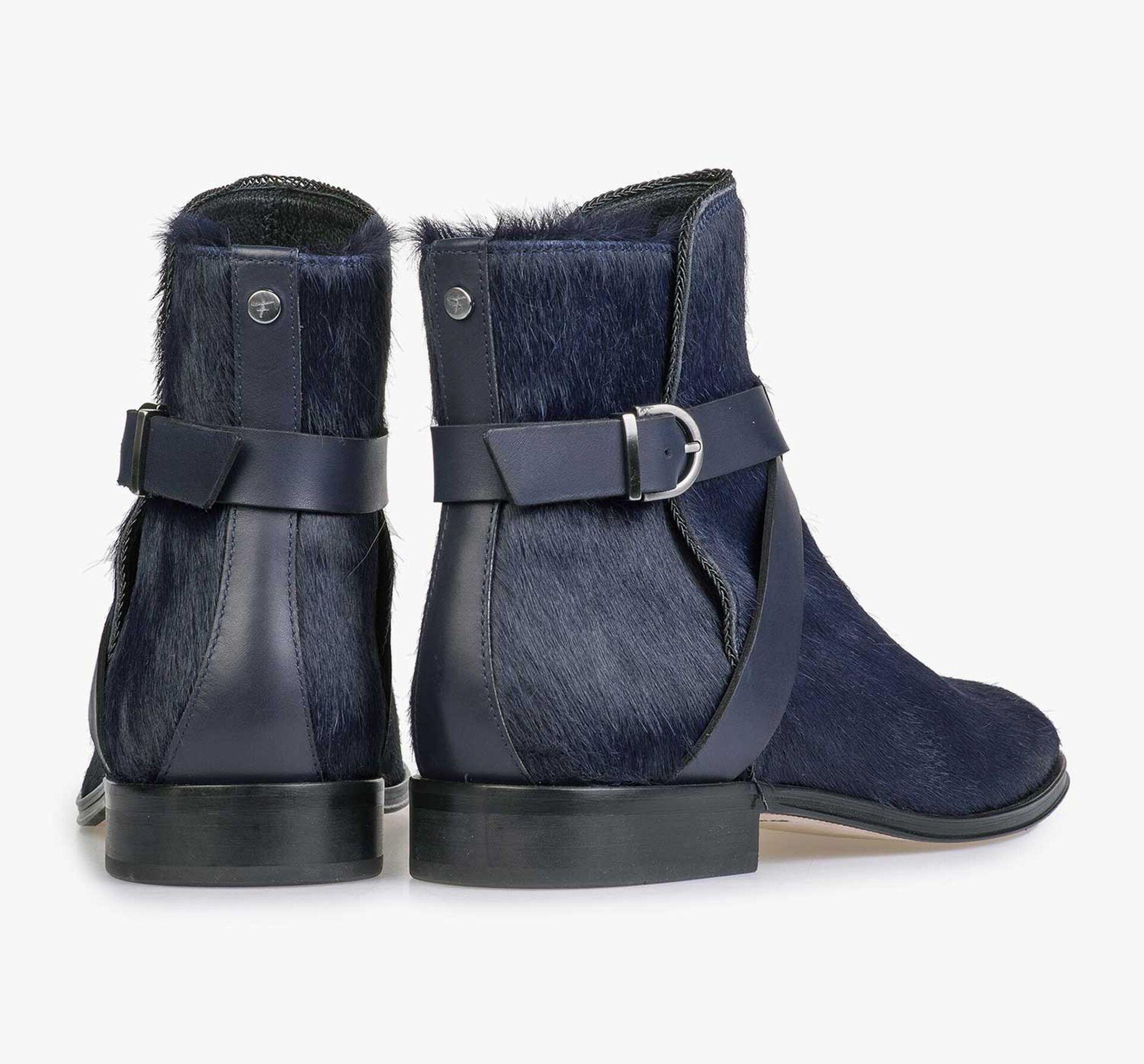 Blue pony hair Chelsea boot