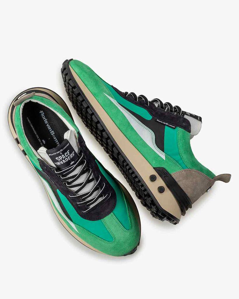 Sneaker Space Invaders green