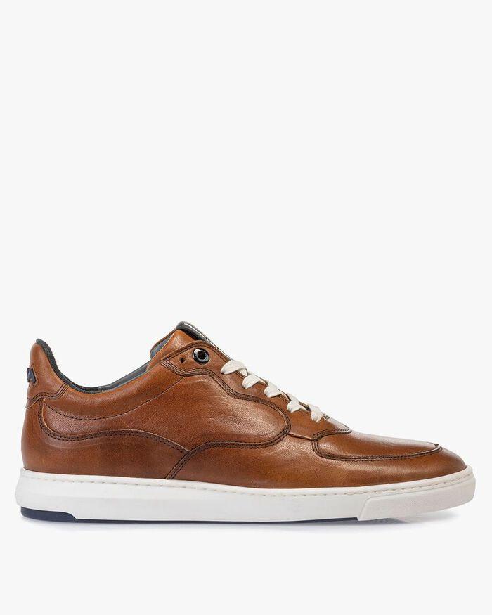Sneaker cognac kalfsleer