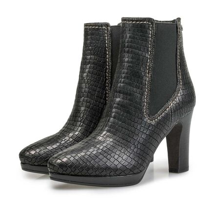 Chelseaboot met crocoprint