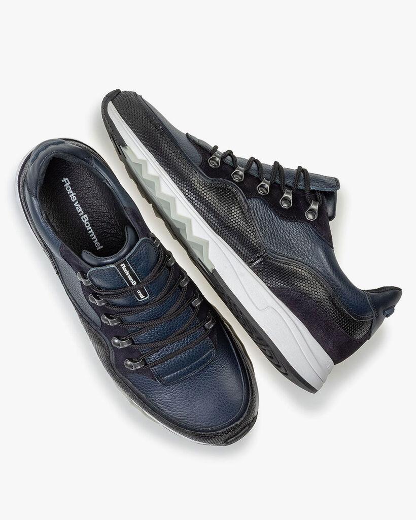 Sneaker leer blauw