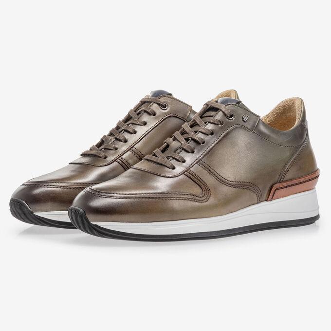 Sneaker calf leather green