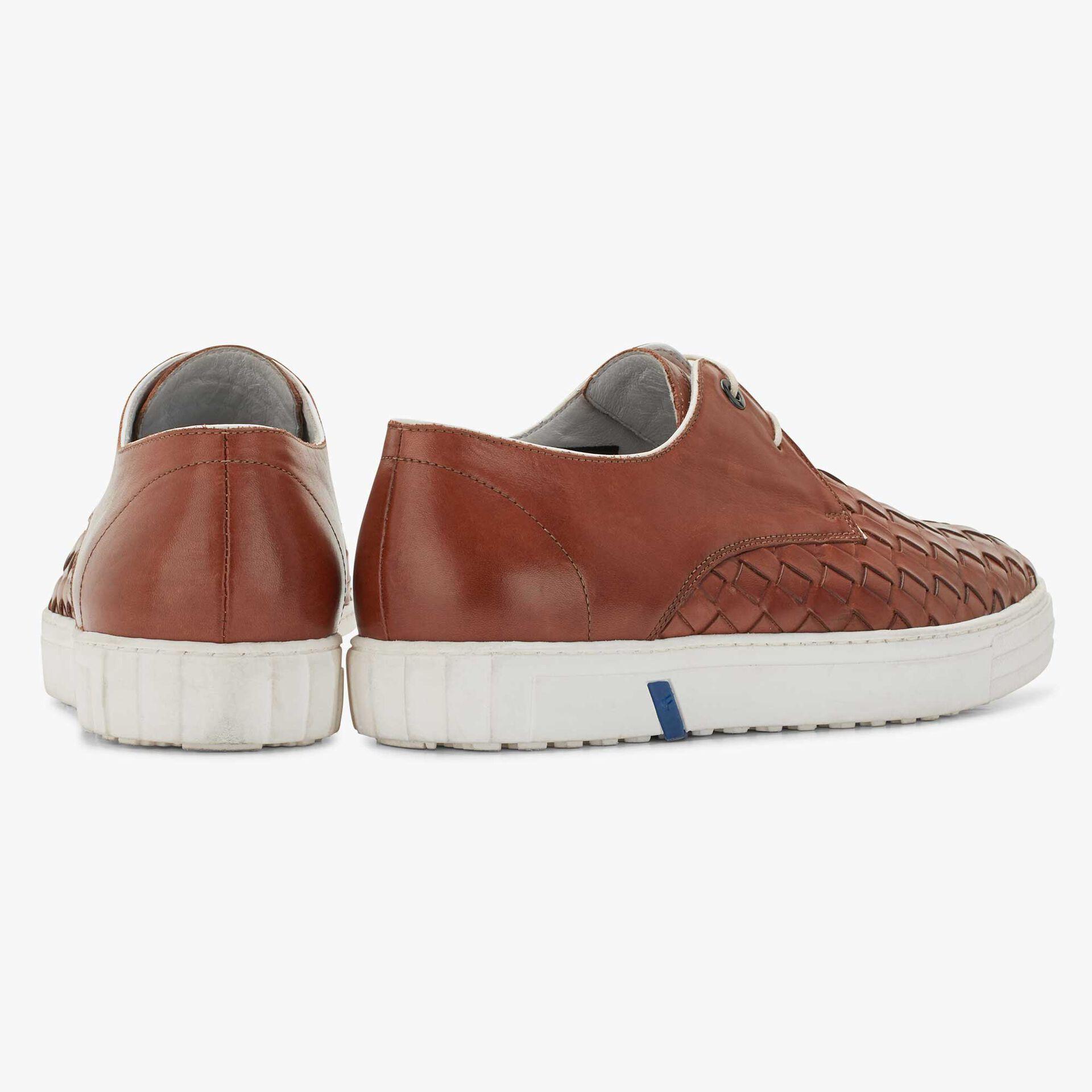 Floris van Bommel cognac-coloured men's leather city sneaker