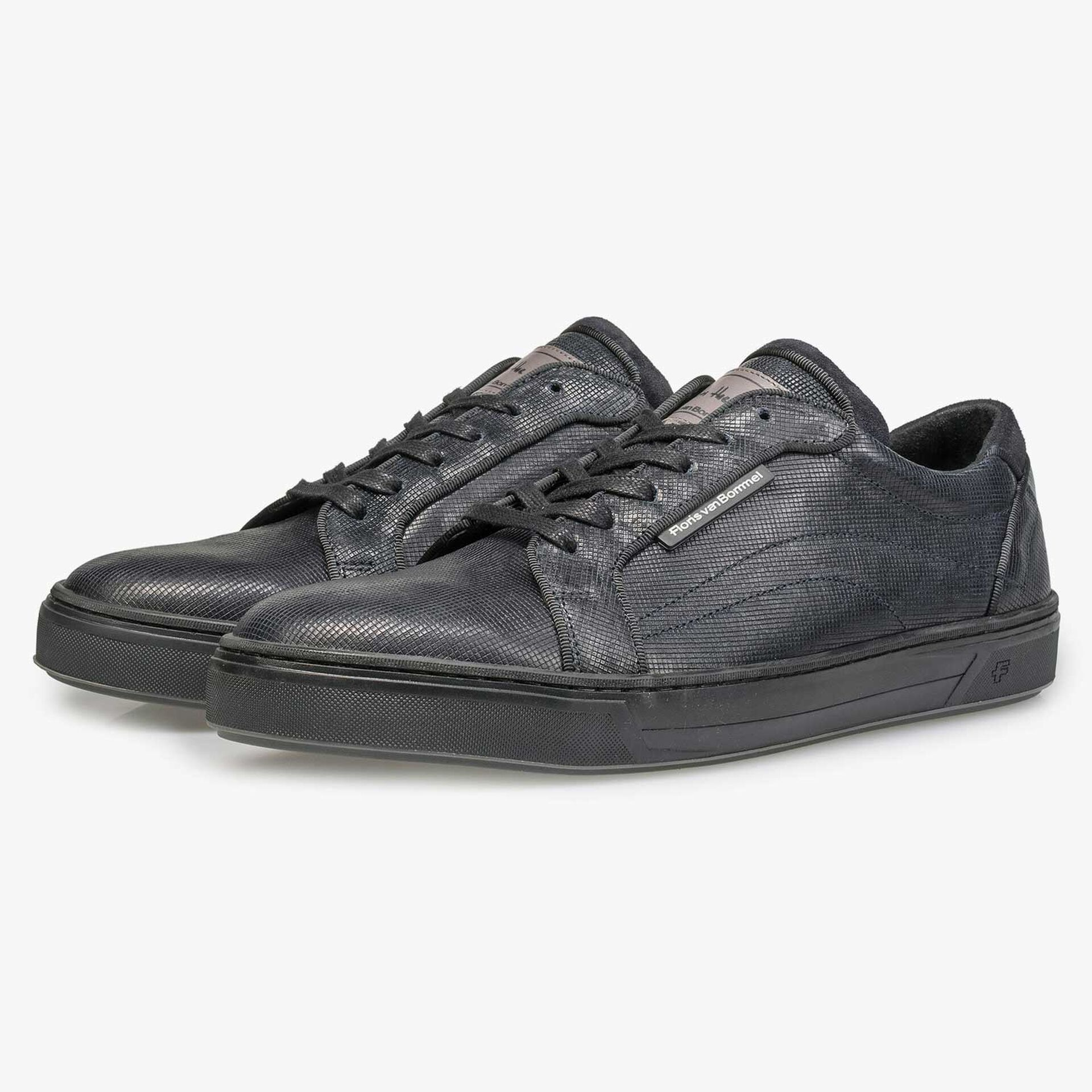 Blue calf's leather sneaker