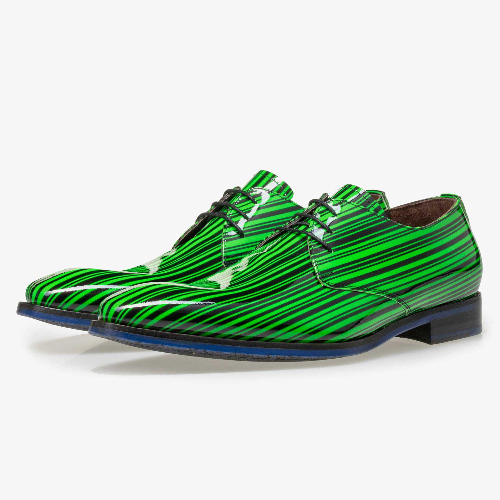 Floris van Bommel Premium groen lak heren veterschoen
