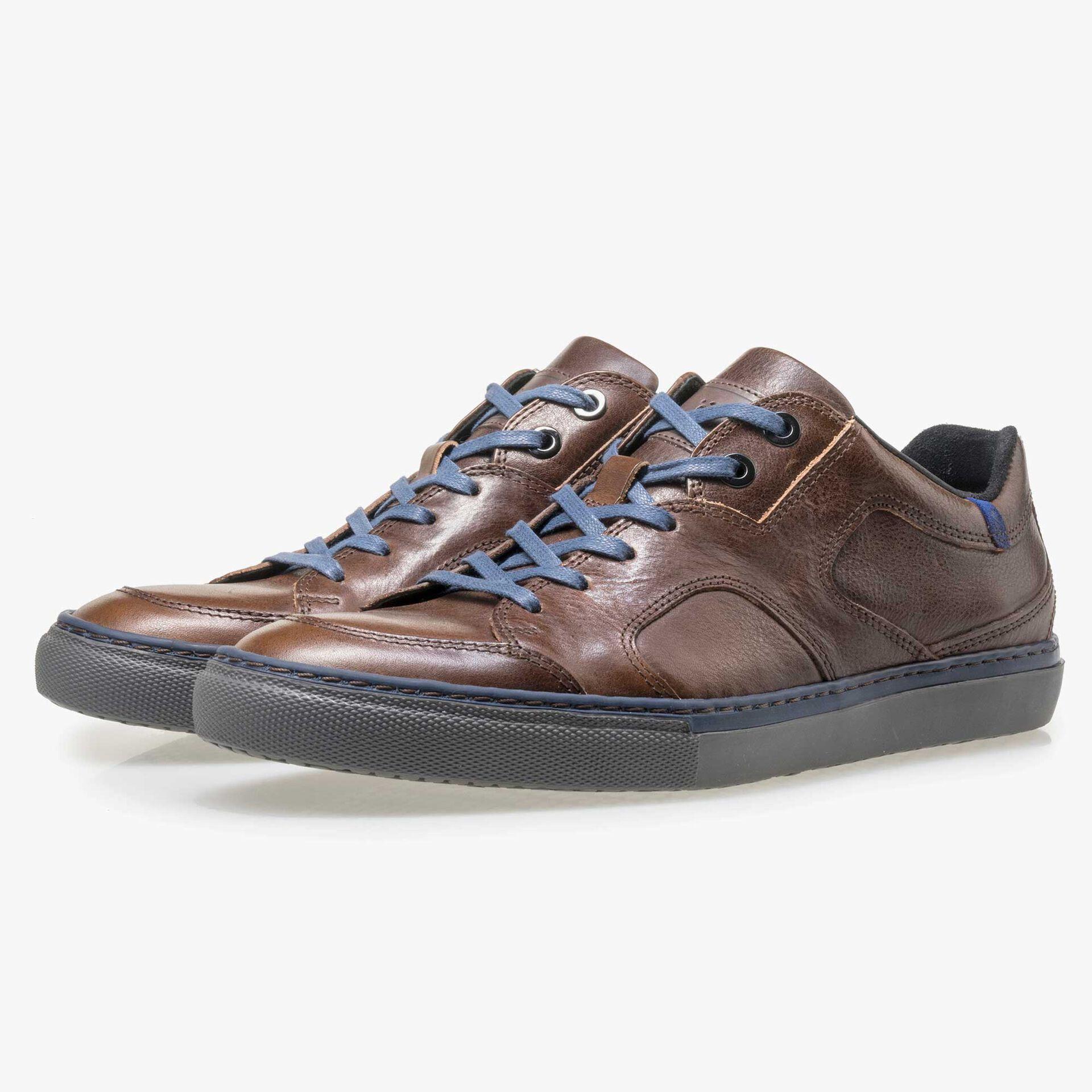 Floris van Bommel bruine leren heren sneaker