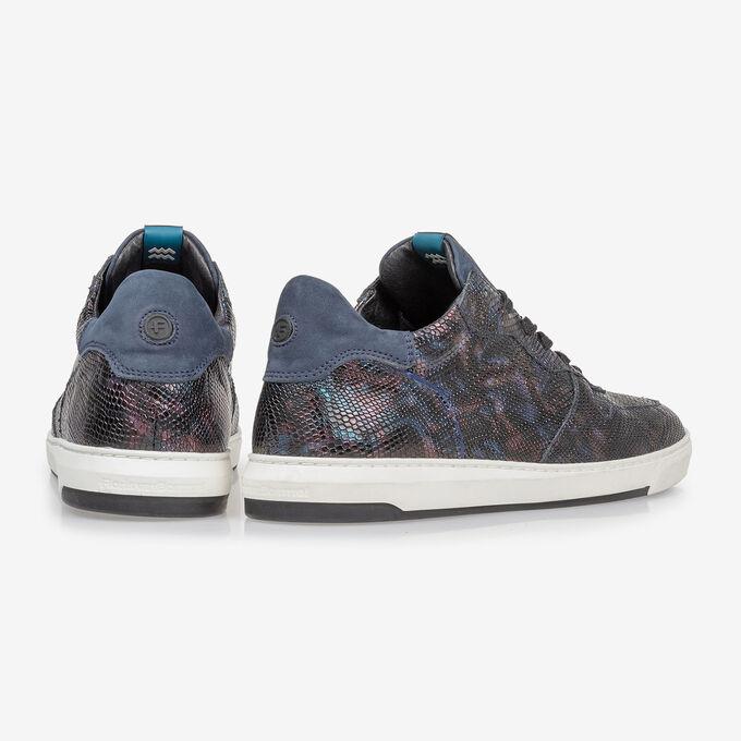 Sneaker snakeprint blauw