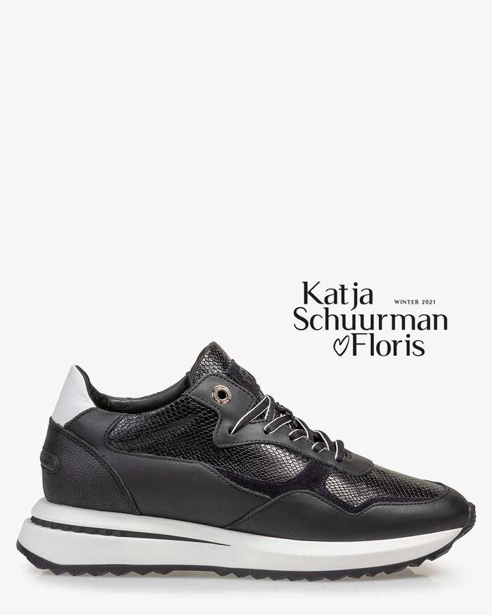 Sneaker reptile print black