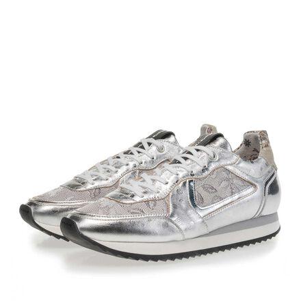 Leren sneaker met runner zool