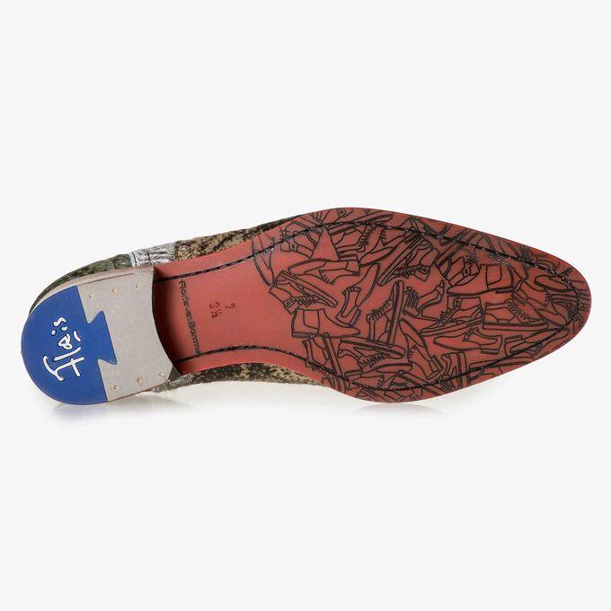 Premium ponyhair lace shoe with print