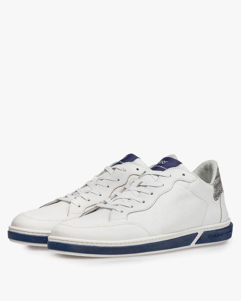 White calf leather lace shoe