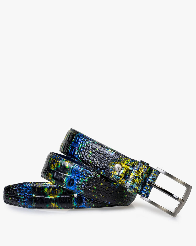 Belt with print yellow