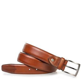 Leather belt cognac