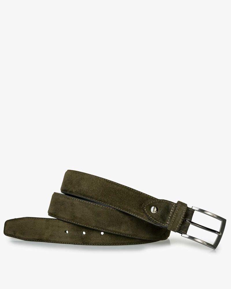 Belt suede dark green