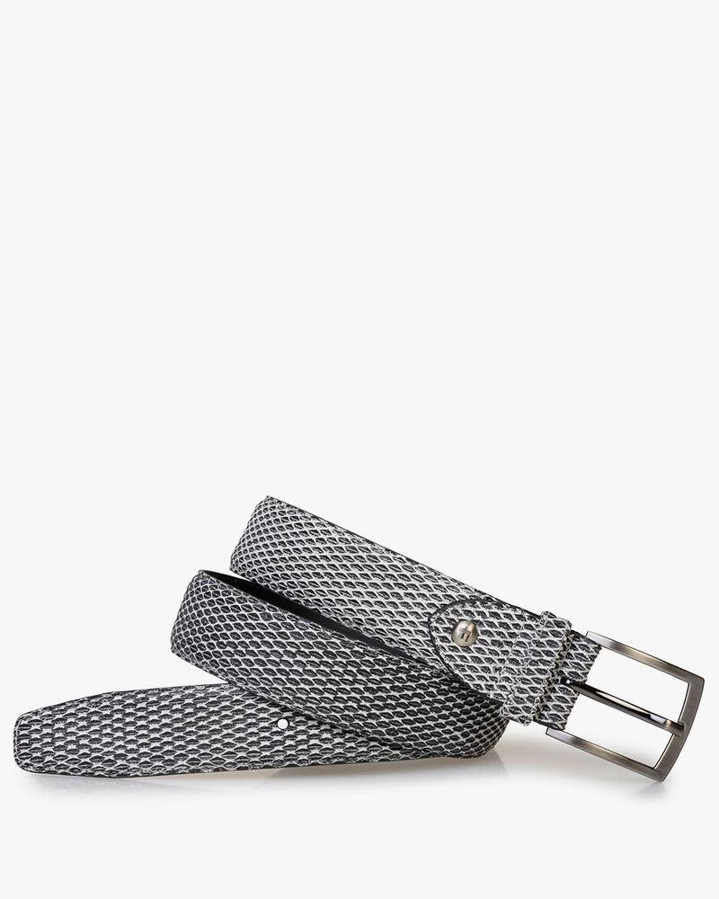 Belt grey suede leather