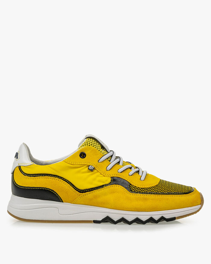 Nineti yellow suede leather