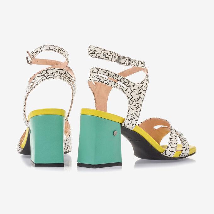 Elegant high-heeled sandal