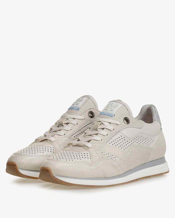 Sneaker geprint leer off-white