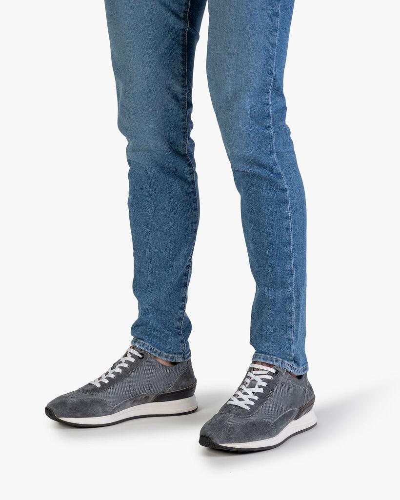 Sneaker textiel donkergrijs
